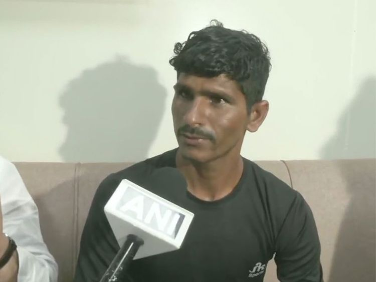 Indian sprinter Rameshwar Gurjar, 19