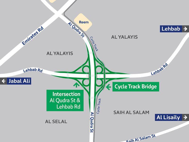 Al Qudra Lehbab Map