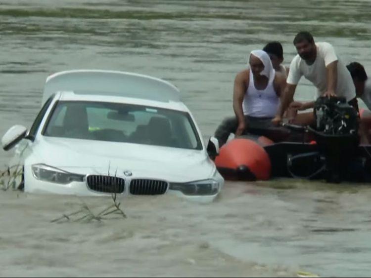 BMW drowning in Yamuna canal in Haryana