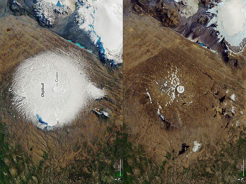 Iceland glacier Okjökull