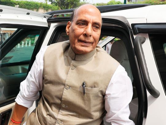 India's Union Defence Minister Rajnath Singh