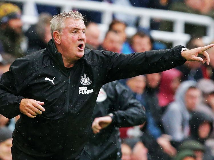Newcastle United's English head coach Steve Bruce