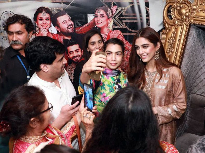 Maya Ali promoting PAREY HUT LOVE at a theatre-1566198520674