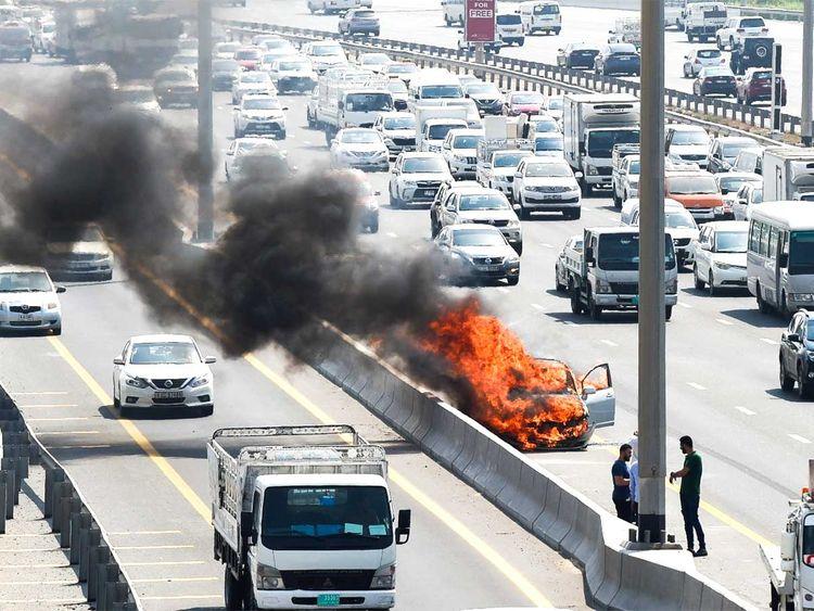 190822 car on fire