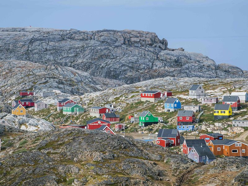 A general view of the town of Kulusuk in Greenland