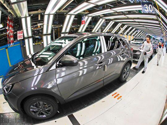 An Peugeot plant in Sochaux, France