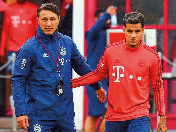 Bayern Munich's Philippe Coutinho