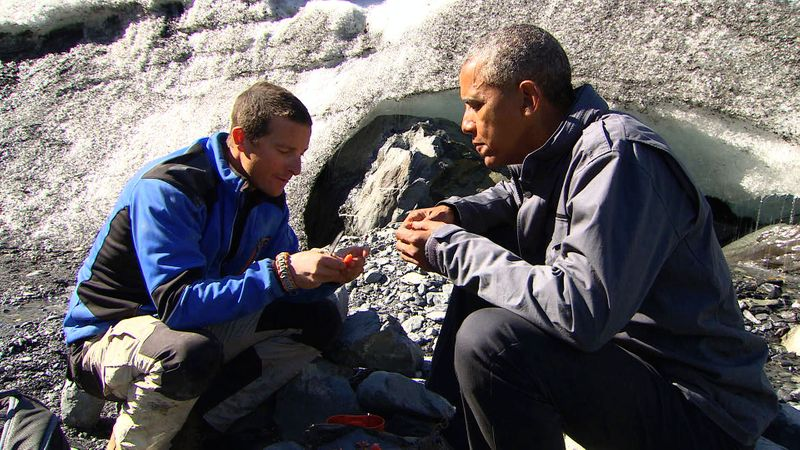 Bear Grylls and Barack Obama
