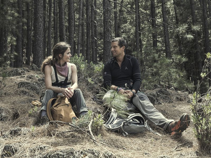 Bear Grylls and Keri Russell