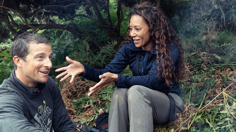 Bear Grylls with Mel B