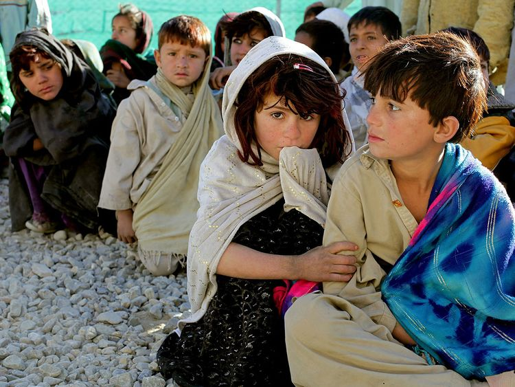 poverty children in Afghanistan