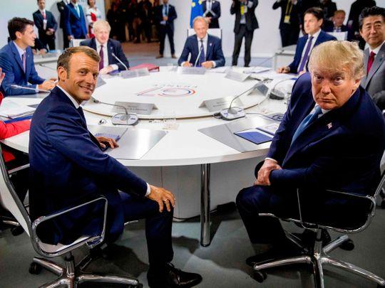 G7 summit Trump Macron