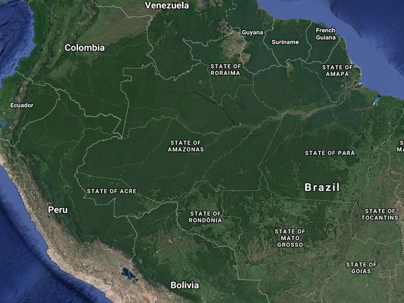 Map of the Amazon Forest