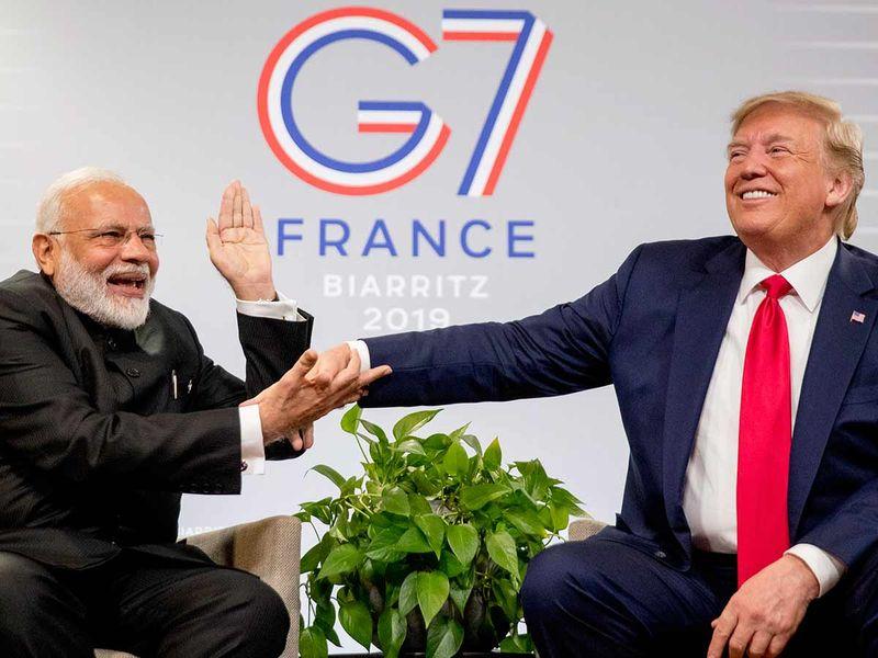 Modi and Trump at G7 meet