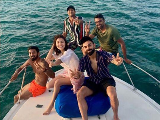 Endless blues: Virat Kohli & co cruise Atlantic with Anushka Sharma