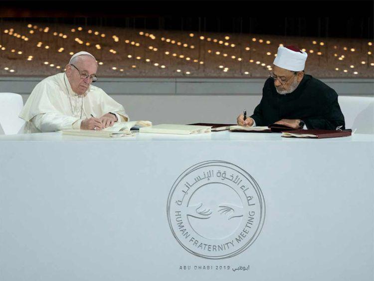 Pope Francis and Grand Imam of Al Azhar, Dr Ahmed El Tayyeb 20190927