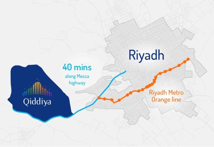 Qiddiya map