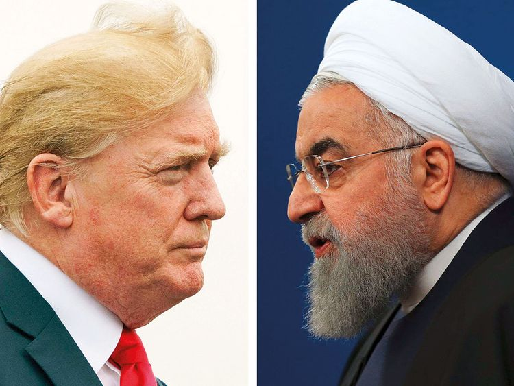 190828 donald trump and hassan rouhani