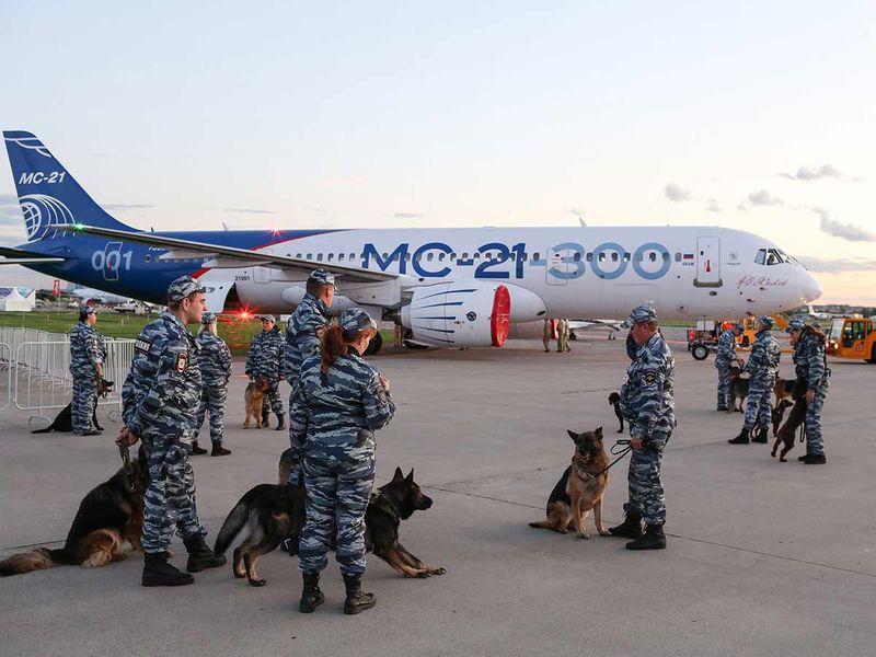 An Irkut Corp PJSC MC-21-300 passenger aircraft 2019