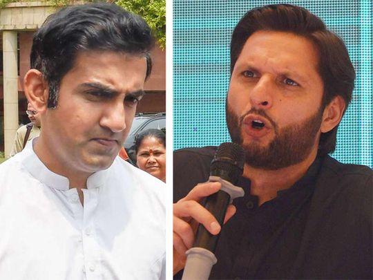Gautam Gambhir and Shahid Afridi