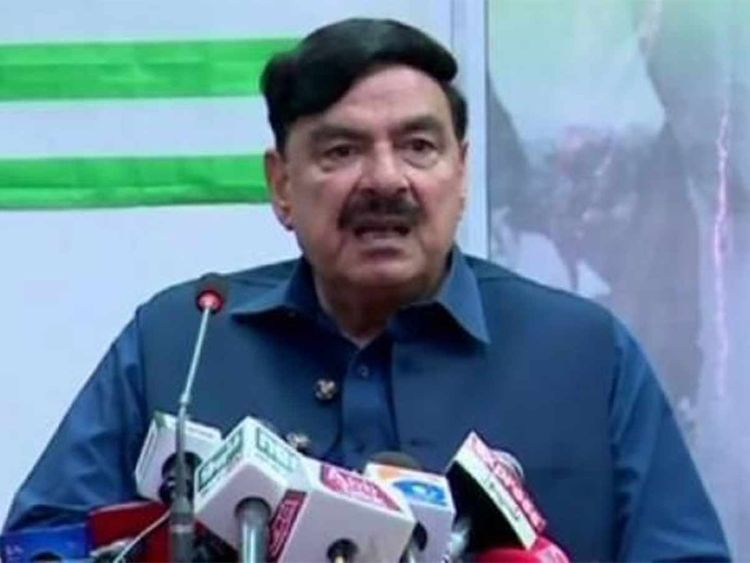 Pakistan's Minister for Railways Sheikh Rashid