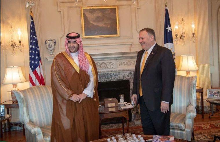 REG 190829 Prince Khalid Bin Salman meeting Mike Pompeo in Washington-1567064259959