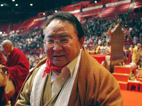 Sogyal Rinpoché, poses after Akshobya ceremony 20190829