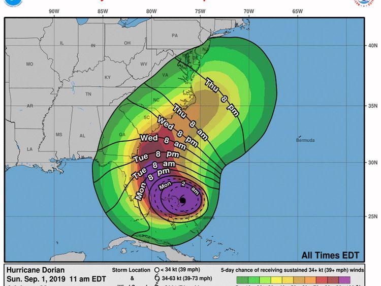 Hurricane Dorian: 'Strongest storm on the planet'   Americas