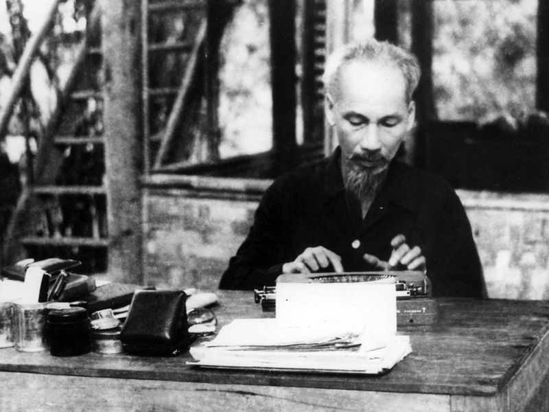 In 1950, North Vietnam's President Ho Chi Minh
