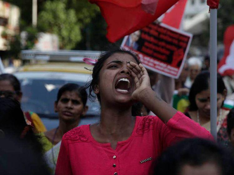 Protest against caste discrimination in Chennai, Tamil Nadu