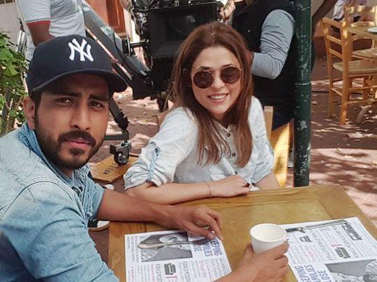 Director Nabeel Qureshi with producer Fiizza Ali Meerza on the set of NA MALOOM AFRAAD 2-1567404935397