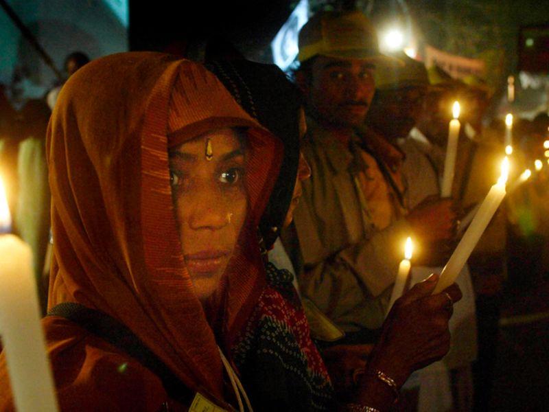 Indian lower caste delegates light