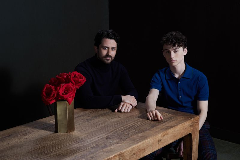 Andy Bean and Wyatt Oleff play Stanley Uris in 'It: Chapter Two'