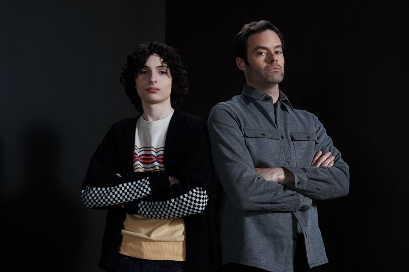 Finn Wolfhard and Bill Hader play Richie Tozier in 'It: Chapter Two'.
