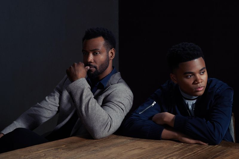 Isaiah Mustafa and Chosen Jacobs play Mike Hanlon in 'It: Chapter Two'.