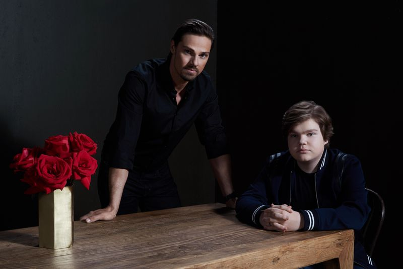 Jay Ryan and Jeremy Ray Taylor play Ben Hascom in 'It: Chapter Two'