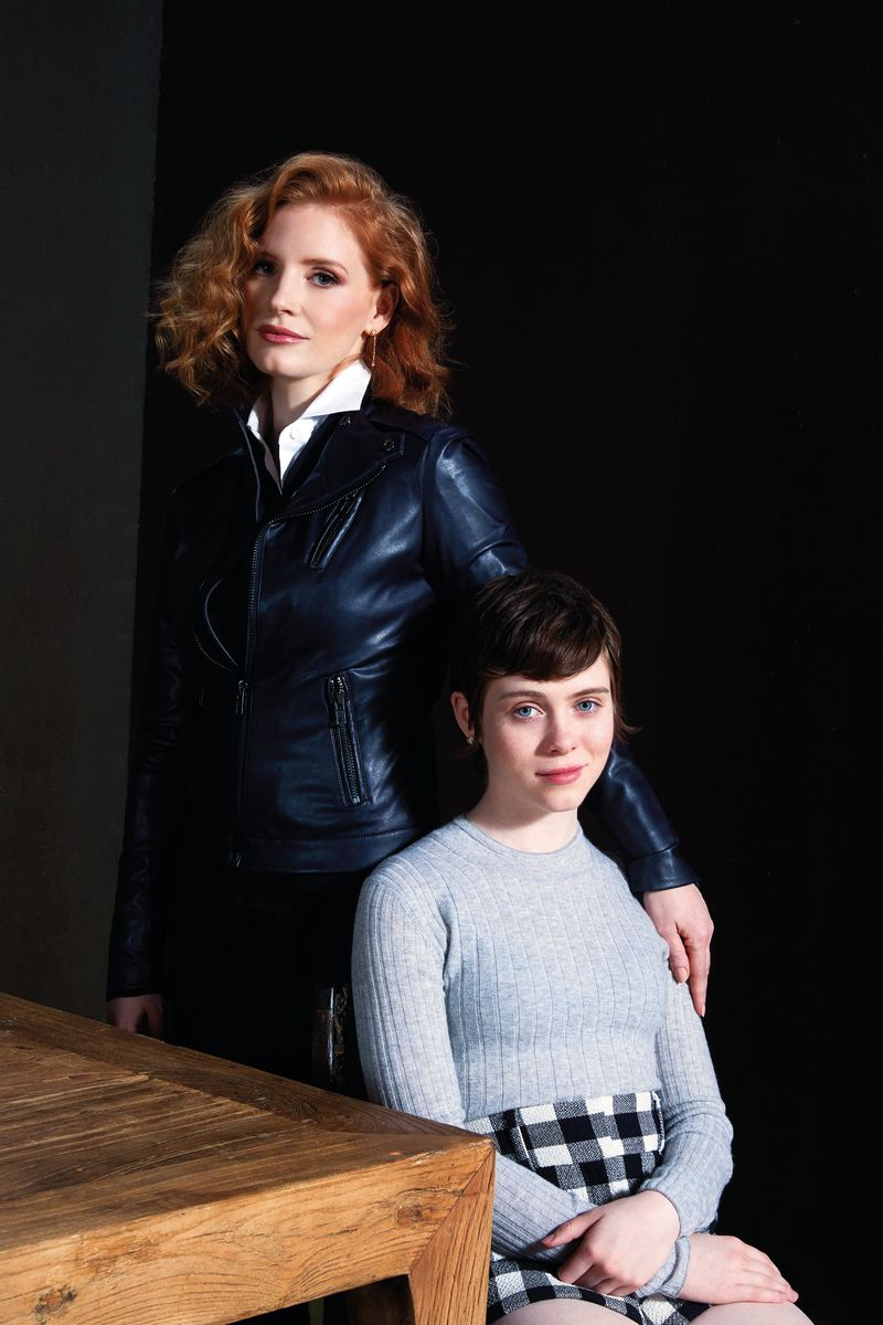 Jessica Chastain and Sophia Lillis play Beverly Marsh in 'It: Chapter Two'.