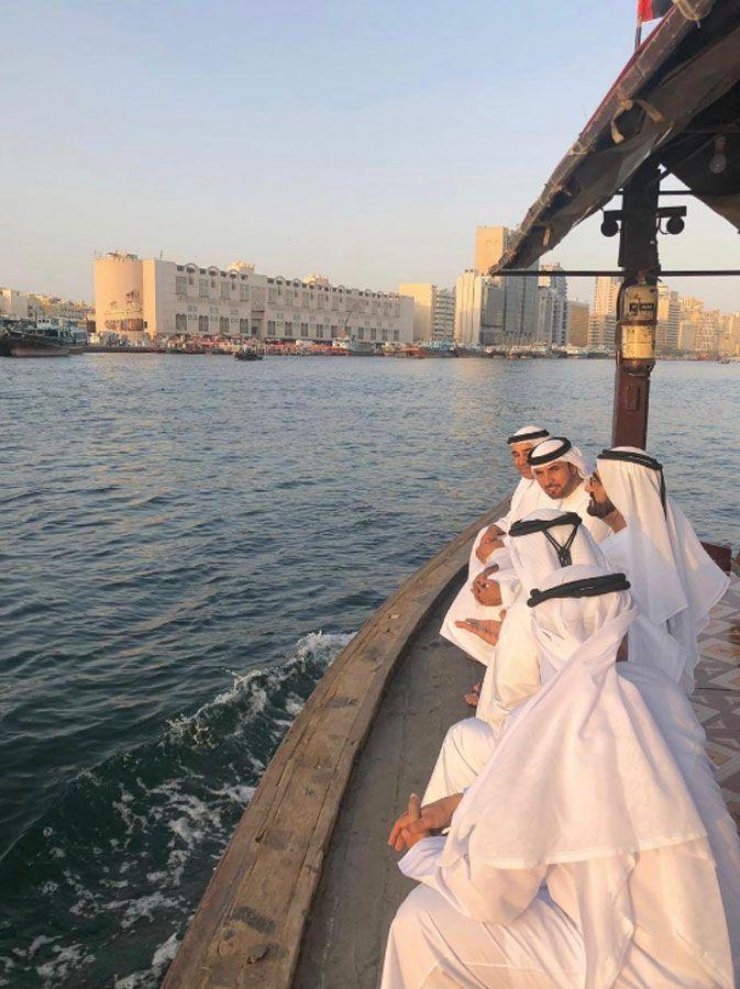 Sheikh Mohammed on abra ride