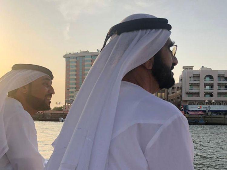 Sheikh Mohammed on an abra
