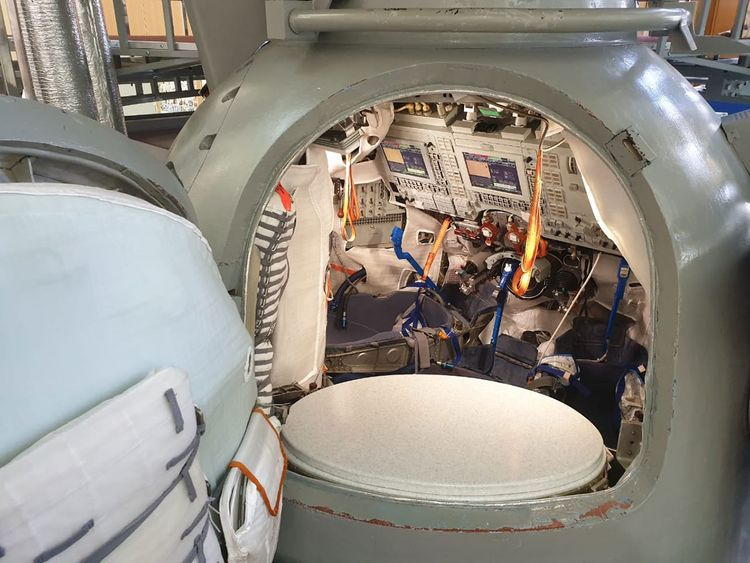 What the Soyuz Descent Capsule looks like from inside.