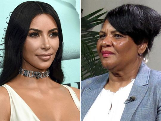 Kim Kardashian West, left, has enlisted Alice Marie Johnson as part of her new shapewear campaign.(Associated Press)