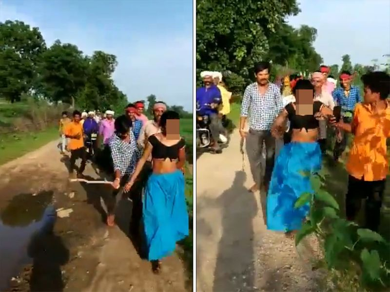 India Woman Beaten Up Paraded Half Naked Over Inter Caste Affair