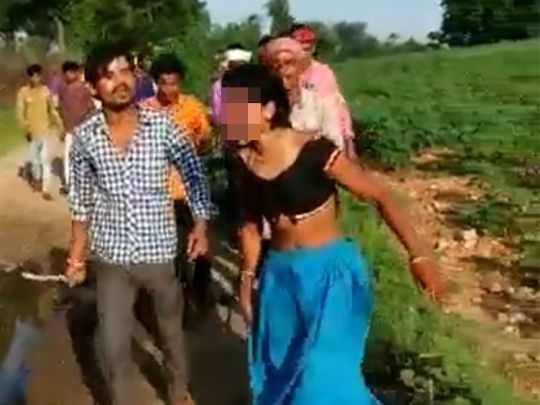 India Woman Beaten Up, Paraded Half-Naked Over Inter-Caste Affair  India  Gulf News-1866