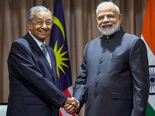 Modi with Mahathir 20190905