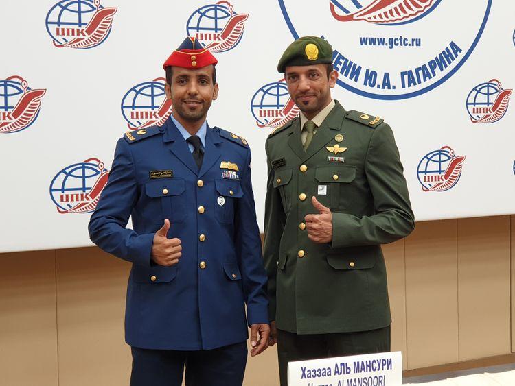 Nat_190905 Emirati Astronaut Hazza Al Mansouri and Sultan Al Neyadi