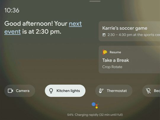 Google unveils Assistant Ambient Mode for phones, tablets