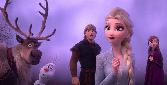 Kristen Bell, Idina Menzel, Josh Gad, and Jonathan Groff in Frozen II-1567777511354