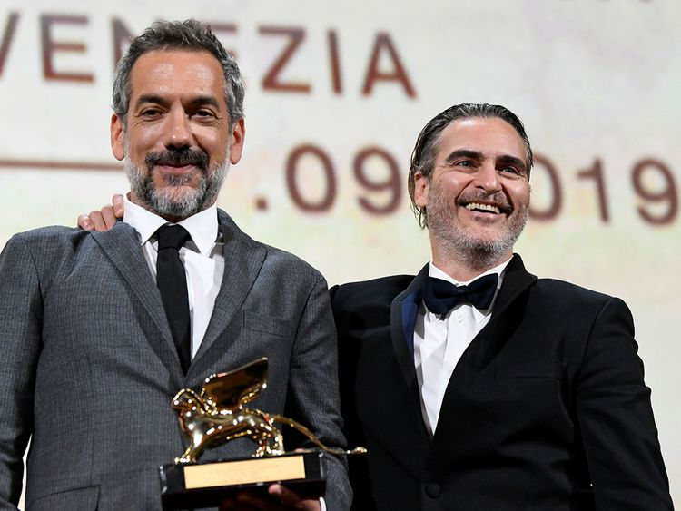 Director Todd Phillips and Joaquin Phoenix