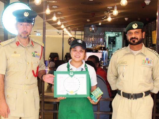 Starbucks worker in Dubai Mall honoured for her honesty