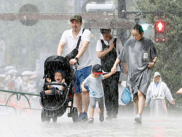 typhoon in Tokyo